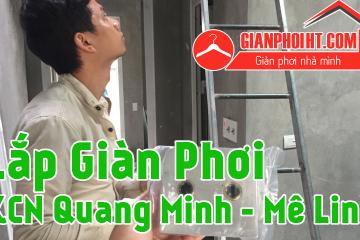 Lắp giàn phơi thông minh tại KCN Quang Minh – Mê Linh