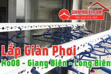 Lắp giàn phơi Sankaku tại No 08 Giang Biên Long Biên