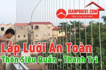 Lắp đặt lưới an toàn ban công tại Thanh Trì