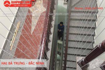 Thi công lưới an toàn ban công tại trường mầm non tư thục đường Hai Bà Trưng – TP Bắc Ninh