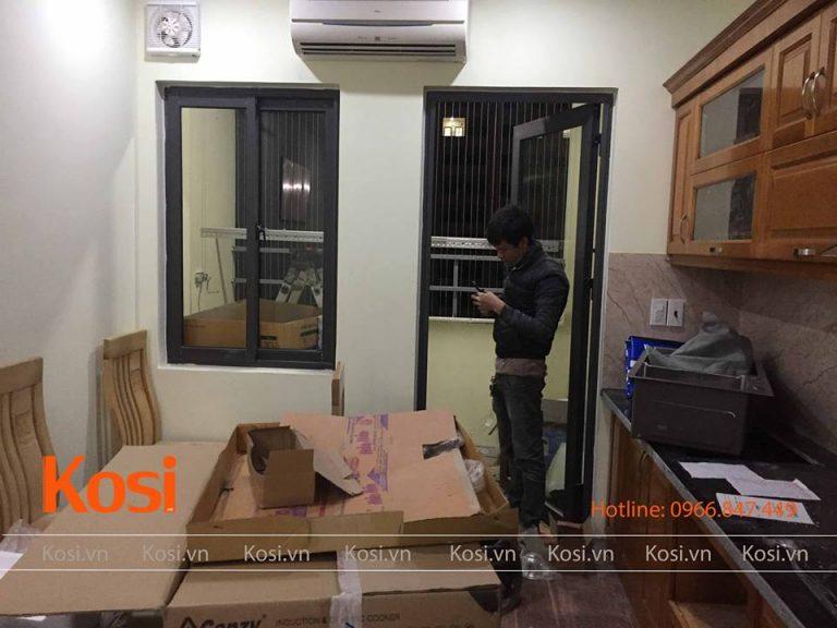 Không gian lắp đặt bộ sản phẩm giàn phơi thông minh Kosi KS01
