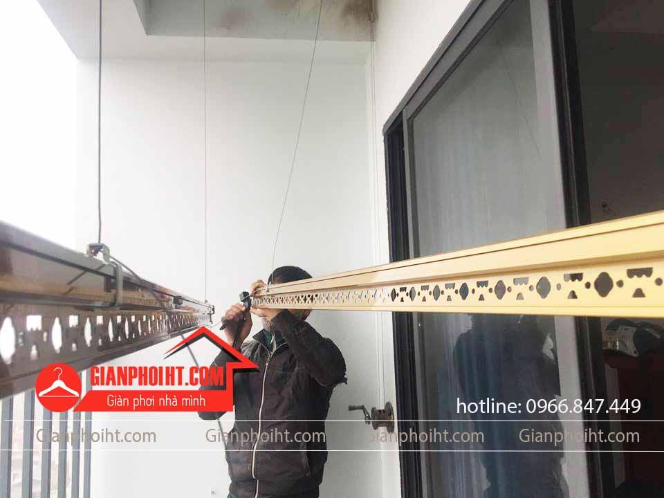 Bộ giàn phơi thông minh Kosi KS06 lắp đặt tại chun cư RICE CITY Sông Hồng