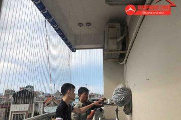 Hình ảnh lắp giàn phơi Hòa Phát KS990 tại Thạch Bàn, Long Biên
