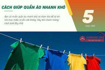5 mẹo hay giúp quần áo nhanh khô hơn trong mùa mưa ẩm