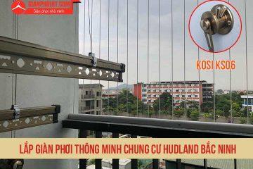 Lắp giàn phơi thông minh chung cư Hudland Bắc Ninh
