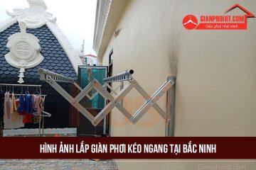 Hình ảnh lắp giàn phơi kéo ngang tại Bắc Ninh