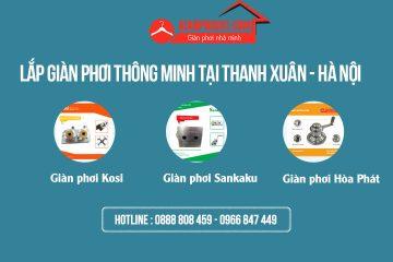 Lắp giàn phơi thông minh tại Thanh Xuân – Hà Nội