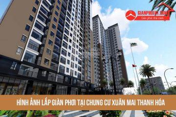 Hình ảnh thi công lắp giàn phơi tại chung cư Xuân Mai Thanh Hóa