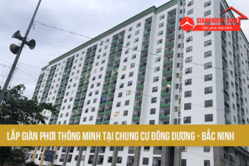 Lắp giàn phơi thông minh tại chung cư Đông Dương Bắc Ninh