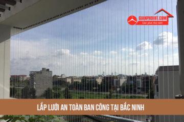 Lắp lưới an toàn ban công tại Bắc Ninh