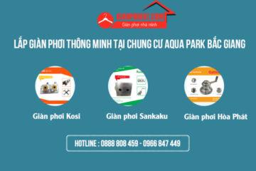 Lắp giàn phơi thông minh tại chung cư Aqua Park Bắc Giang