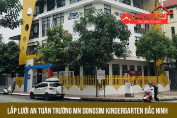 Lắp lưới an toàn cho trường mầm non Dongsim Bắc Ninh