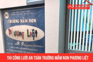 Lắp lưới an toàn cho trường Mầm Non Phương Liệt –  Hà Nội
