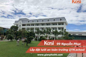 Lắp đặt lưới an toàn cho trường liên cấp QTHschool Thanh Hóa